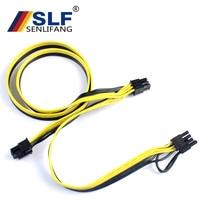 Express Internal Splitter Ribbon Miner Cable 10Pcs Modular PSU Power Supply Cables PCI e Molex 6pin to 2 PCI e 8 pin 6+2pin PCI