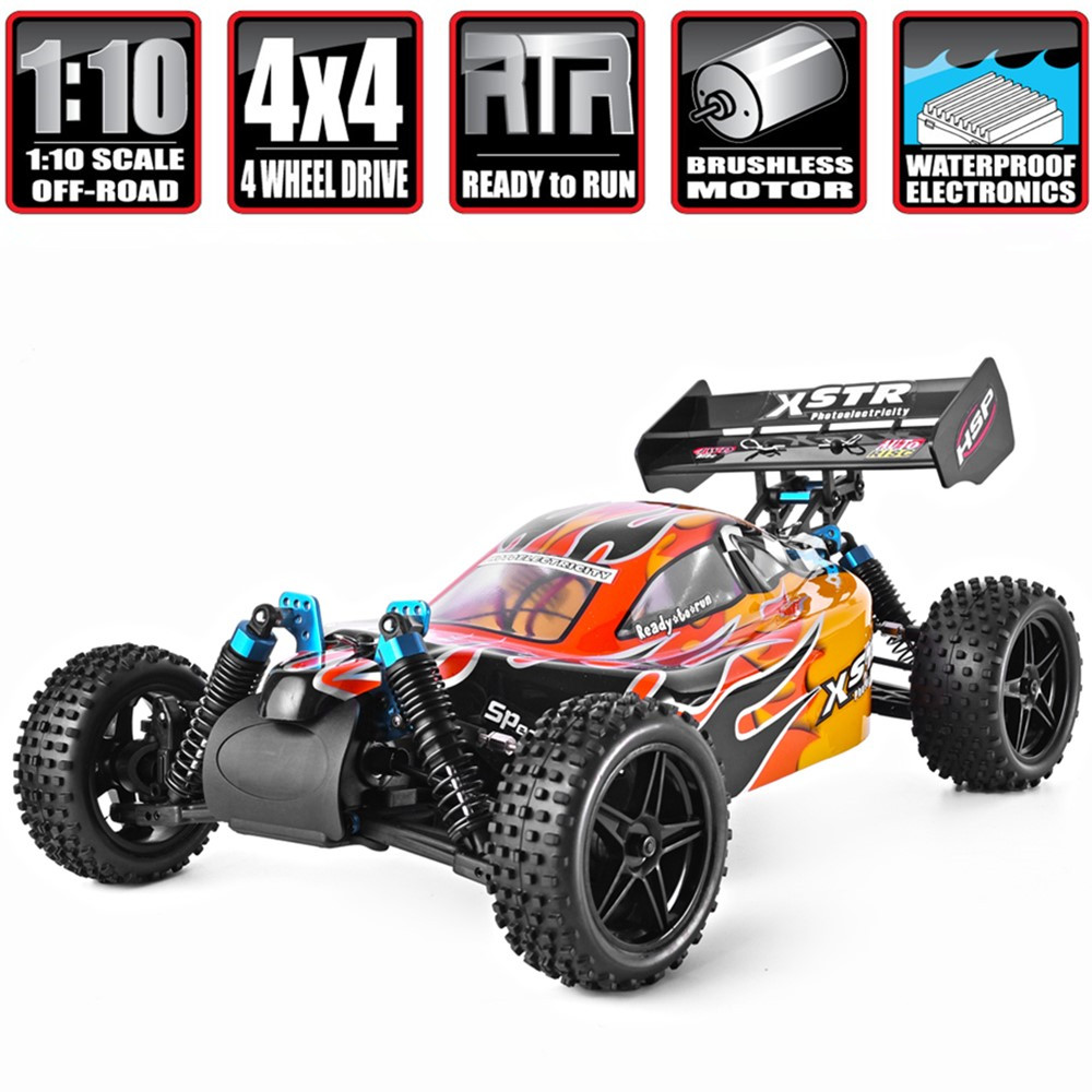 HSP Rc Car 1 10 Brushless Motor Remote Control Car 4wd Off Road Buggy 94107PRO XSTR