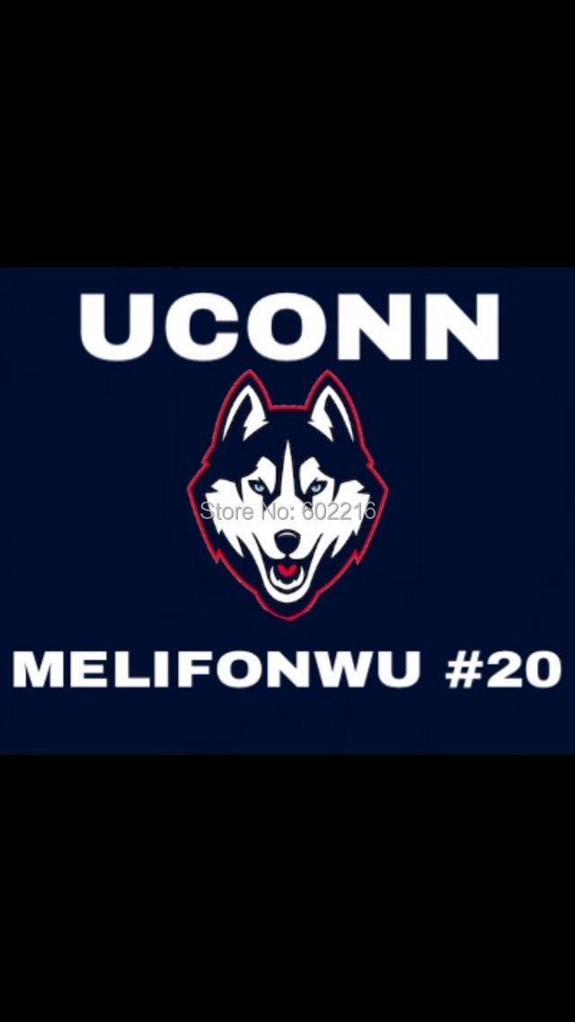 College Uconn Huskies New Logo Flag 3ftx 5ft Size 144 96cm Custom