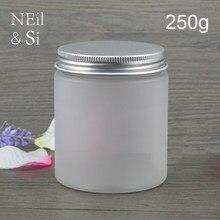 250g fosco frasco de creme cosmético plástico recarregável vazio garrafa de loção corporal máscara facial recipientes de embalagem muitas cores