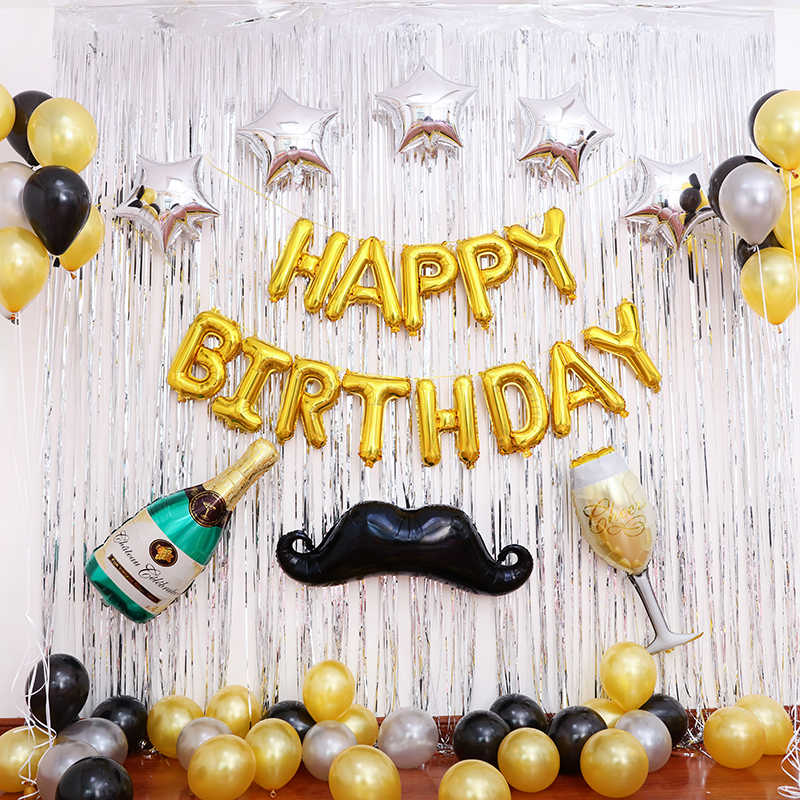 Birthday Decorations For Him Boyfriend Party Ideas Mustache Husband Father Decoration Bachelor Decor