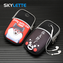 4-6 inches Mobile Phone Arm Bag Size S L Cute Pattern Running Cycling Unisex Sports Arm Band For iPhone Samsung Xiaomi Huawei select child captain s arm band