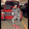 Winter Women Two Piece Bodycon Jumpsuit Knee Length Long Sleeve Zebra Stripes Sexy Club Elegant Rompers And Jumpsuits