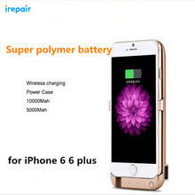 Wireless 10000 mAh Back Clip Battery Charger Power Bank Case For apple iPhone 5 5S 6 6s 7 6plus 6s 7 plus Phone Holder Function