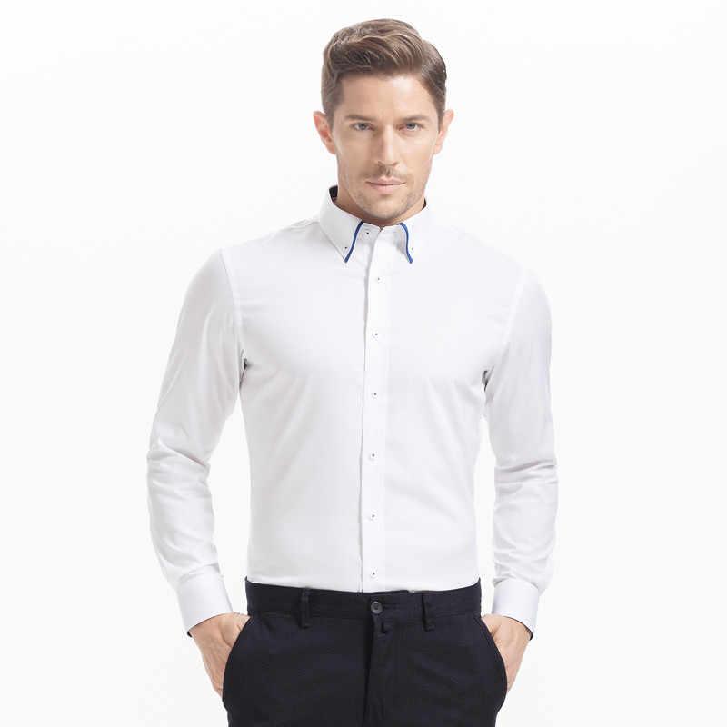 b72d8931f ... Новинка 2016 года, летняя одежда 100% хлопок БЕЛЫЕ РУБАШКИ Для мужчин  импортные Костюмы Camisa ...