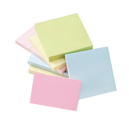 Deli 4 colors paste fashionable sticky notes business office convenient stickers stationery wholesale memo paper deli 7732 convenient paper sticky note yellow 3 pcs