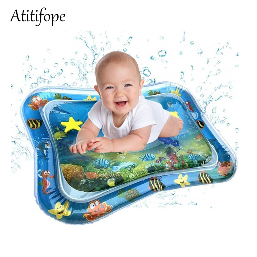 Inflatable Baby Water Mat Tummy Time Playmat Leakproof Pat Perfect Fun Time Play Activity Center For Babies Infants Toddlers