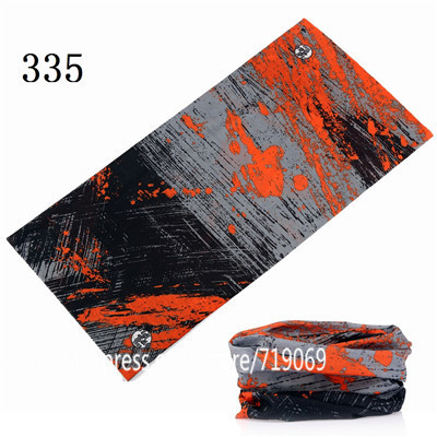 12pcs/lot 301-400 Scarf Seamless Bandana Magic hijab headwear Face Mask Neck Sunscreen Muffler Unisex Riding Scarves Tube