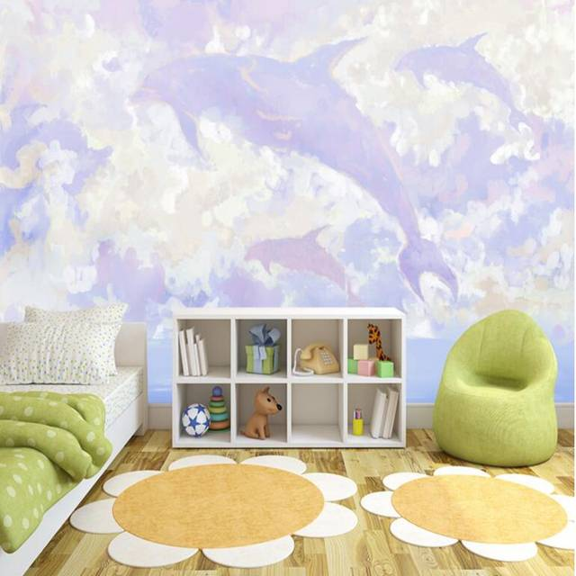 3d Photos Hd Dreamy Hand Drawn Flying Whale Full Wall Murals Moving Desktop  Wallpaper Kitchen Wall Art TV Room Furniture Bedroom