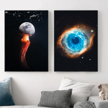 Surrealism Star Universe Eye Nordic Posters And Prints Creativity Wall Art Canvas Painting Pictures For Living Room Decor