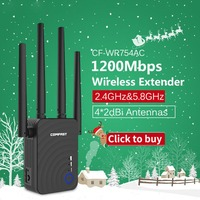 1200Mbps Hot new Wireless Extender Wifi Repeater/Router 4*2dbi Dual Band 2.4&5.8Ghz Wifi Antenna Long Range Signal Amplifier