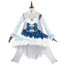 New 2019 Vocaloid Hatsune Miku Cosplay Costume Snow Fancy Dress Full set Carnival Halloween Costumes for Women S-XL
