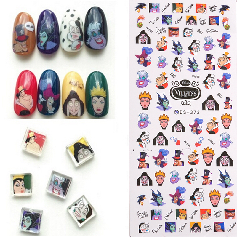 fashion design 1 Sheets Cartoon character avatar Nail Art Water Transfer Decal Sticker For Nail Art Tattoo DS-373 free shipping 1pcs fashion 1 sheets 3d design cute diy cartoon colorful diamonds tip nail art nail sticker nails decal manicure nail tools