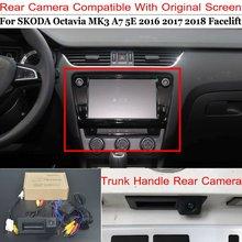 цена на Lyudmila For SKODA Octavia MK3 A7 5E Facelift Camera Connect Original Factory Screen Monitor High Quality Car Rear View Camera