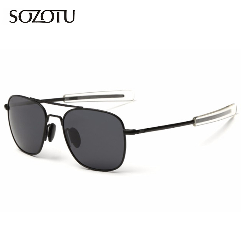 Fashion Pilot Polarized Sunglasses Men Army Military AO Aviation Sunglasses American Optical Sun Glasses For Male YQ122 image