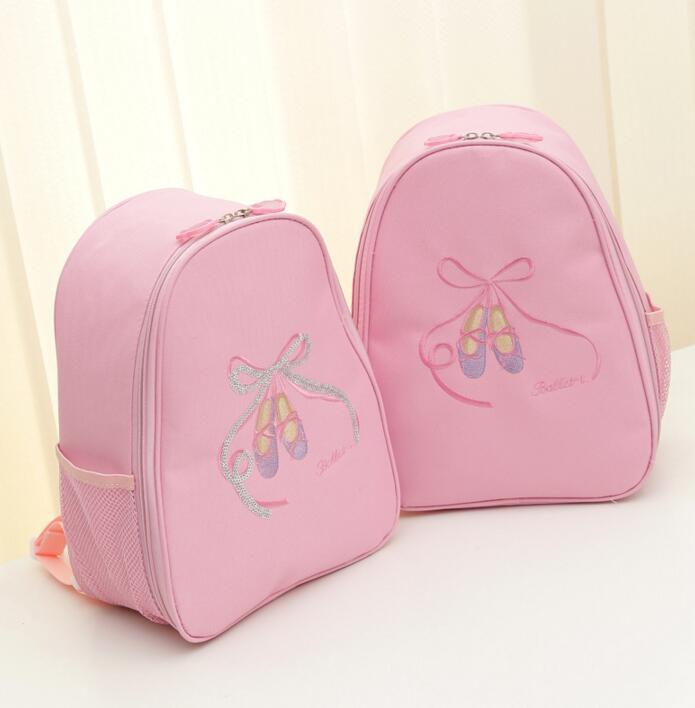 Hot Sale Dance Embroidered Sequin Ballet Shoes Dance Ballet Handbags Waterproof Canvas Grils Kids Dance Bag For Children