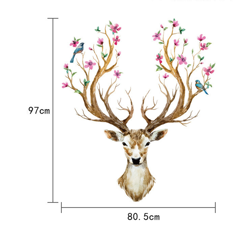Sika Deer Wall Sticker Removable Vinyl Decal Home Living Room Office Decor