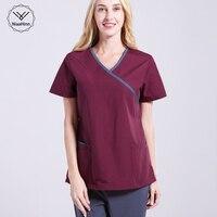 Female medical clothing Scrub Sets Doctors Nurses Short Sleeve Uniforms Dentistry Oral Clinic Pet Doctor Workwear Spa uniform