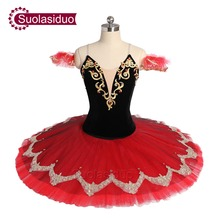 New Arrival Black Red Ballet Tutu The Remonda Perfromance Stage Wear Women Ballet Dance Competition Costumes Girls Ballet Skirt