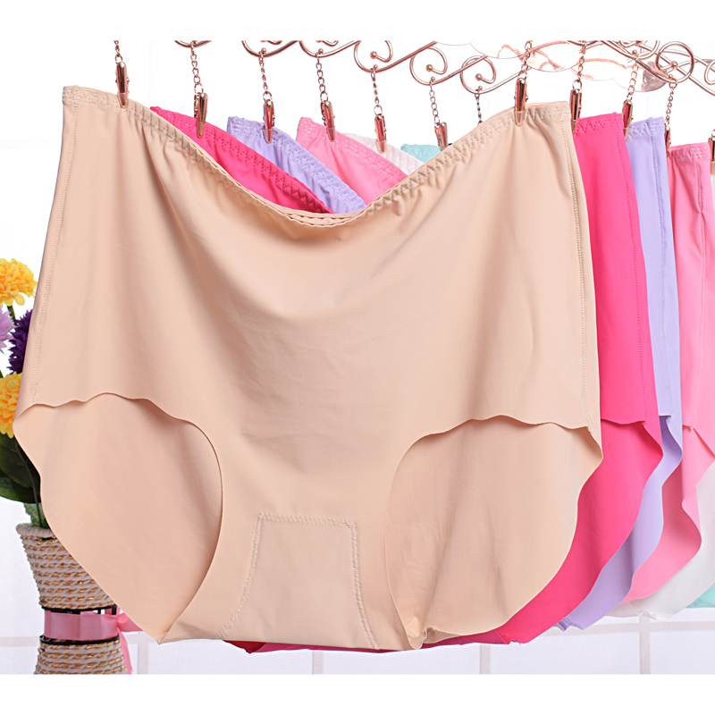 2Pcs/lot 2019 New Women's   Panties   ice briefs silk Cool and Intimates seamless underwear triangle plus size 7XL female briefs