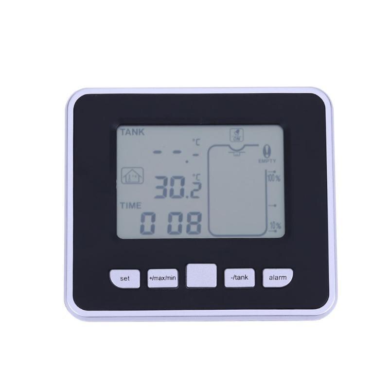 0.5 M-15 M À Ultrasons Sans Fil Réservoir Liquide Niveau Mètre avec Température Thermo Capteur à ultrasons Jauge de Niveau D'eau