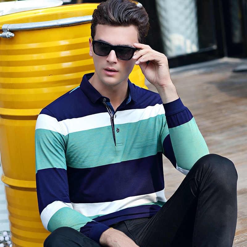 2018 جديد أزياء الرجال بولو الرجال القميص سليم صالح بولو بولو عارضة طويلة الأكمام القطن التركيبية قميص رجالي M-3XL