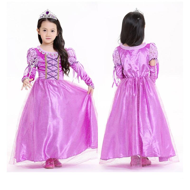 Halloween Girls Princess Fancy Dress Up Costume Outfits: Kids Girls Princess Rapunzel Tangled Dress Belle Princess