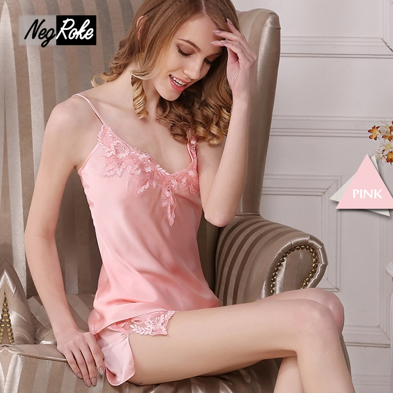 New Summer 100% silk PINK women short pyjamas sexy ladies silk pajamas two-piece shorts pink pajama sets for women satin nighty