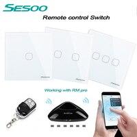 EU UK Standard SESOO 1gang 2gang 3gang Wireless Remote Control Light Switches Smart Home RF433 Remote