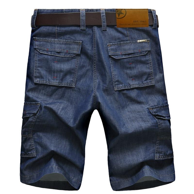 ICPANS Casual Short Mens Cargo Denim Shorts Jeans Clothing Bermuda Summer Cotton Shorts Breathable Denim Shorts