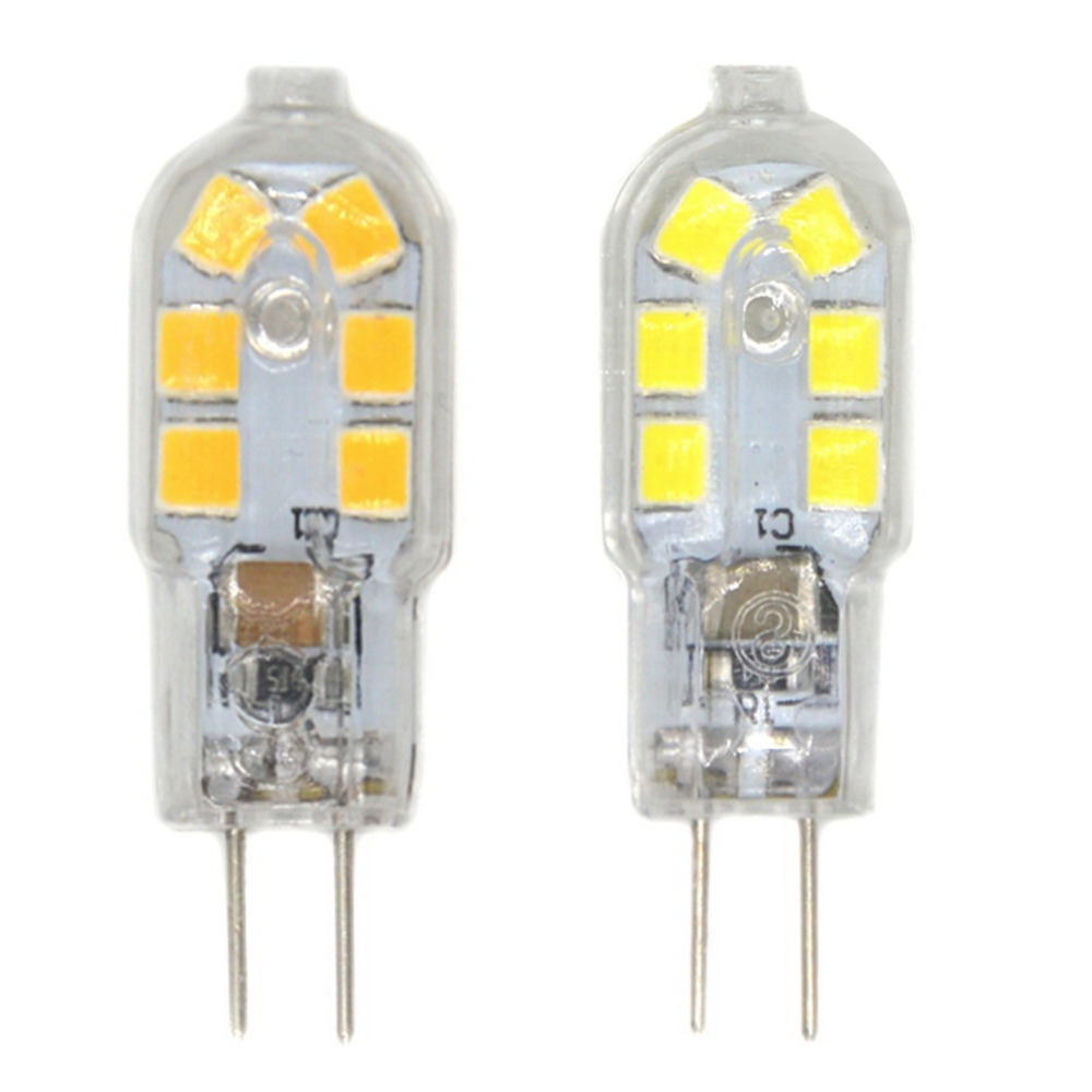 G4 Base 1.5W   Light Lamp Bulb 12 SMD 2835 250 Lm G4 LED Bulb, Bi-Pin Base, 20W Halogen Bulb Equivalent, DC 12 Volt, 10-Pack