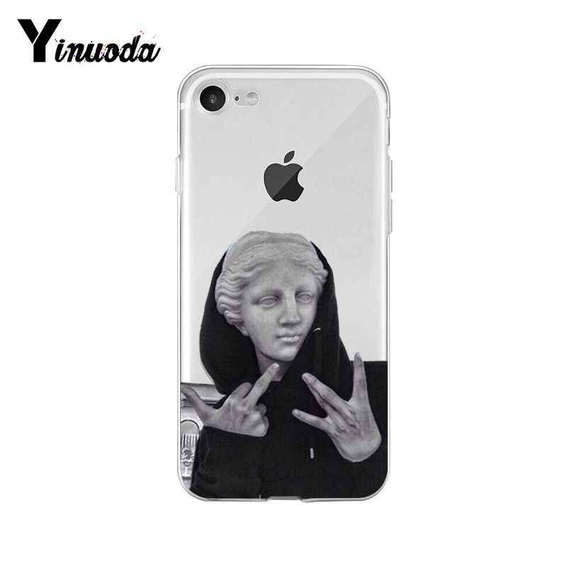 Yinuoda البديل تمثال ديفيد الفن الأزياء حديثا الهاتف حقيبة لهاتف أي فون 8 7 6 6S زائد X XS ماكس 5 5S SE XR 10 11 برو ماكس