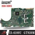 X756UJ материнская плата для ноутбука ASUS X756U X756UWK X756UX X756UJ X756UB X756UV материнская плата I3-6100U GT920M/2 GB DDR3 слот для памяти