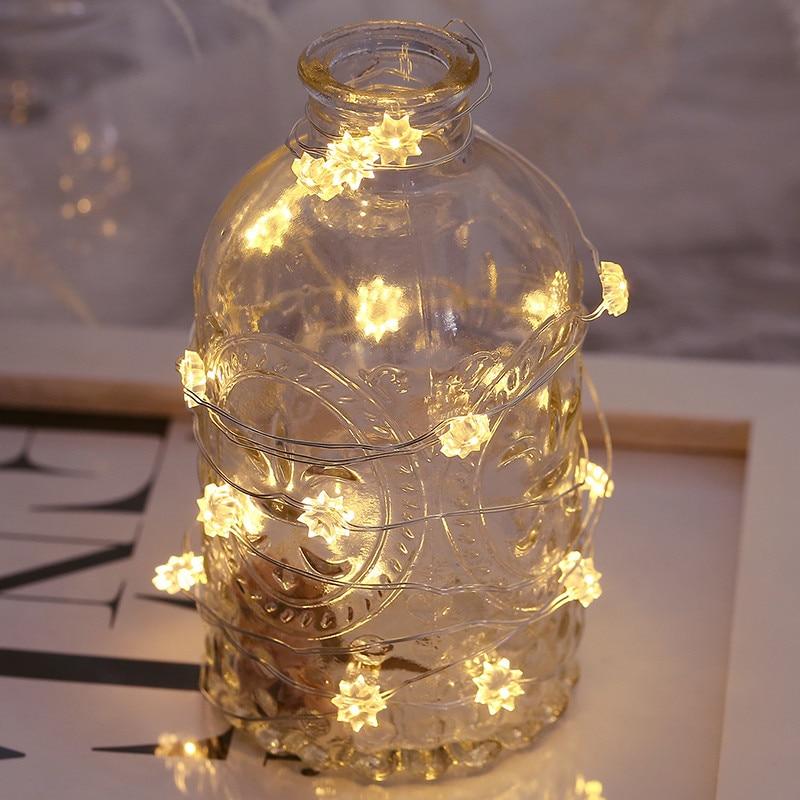 3m Sunflower Shape 30 LED Light Girl Room Home Decor Outdoor DIY Bar Strip Light Fairy Decorative Night Light For Festivals