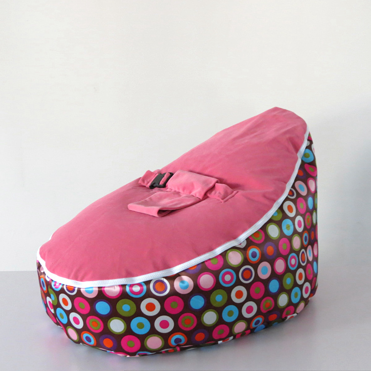 New Baby Bean Bag Chair/Bed Cover Colorful Circles Print--UNFILLED