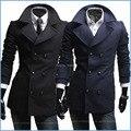 Alta qualidade marca New Cashmere casaco de inverno casaco Men Casual Slim Fit longo Trench Coat masculino Parkas
