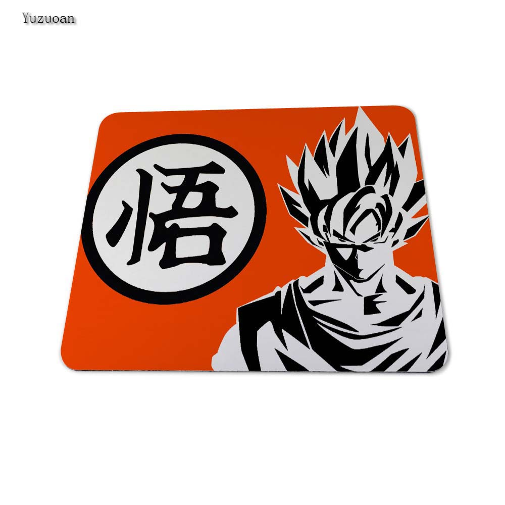 Yuzuoan Hot Sale Japanese Anime Dragon Ball Z Game Mat to Mouse Custom Print Durable Gaming Mouse Pad White OverLock Edge