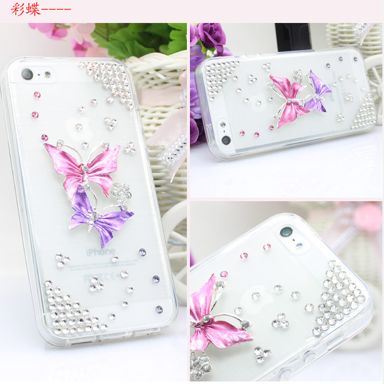For Huawei P7 case rhinestone mobile phone cases Transparent case protective cover colorful glossy case 2