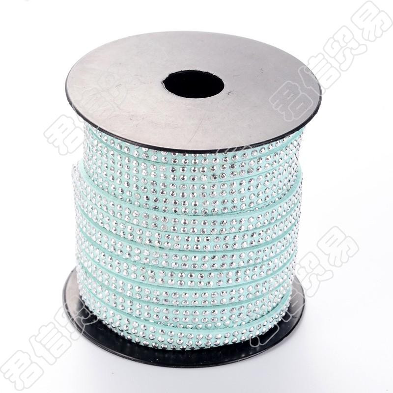 20 Yards 5x2mm Silver Aluminum Studded Faux Suede Cord Faux Suede Lace Strips