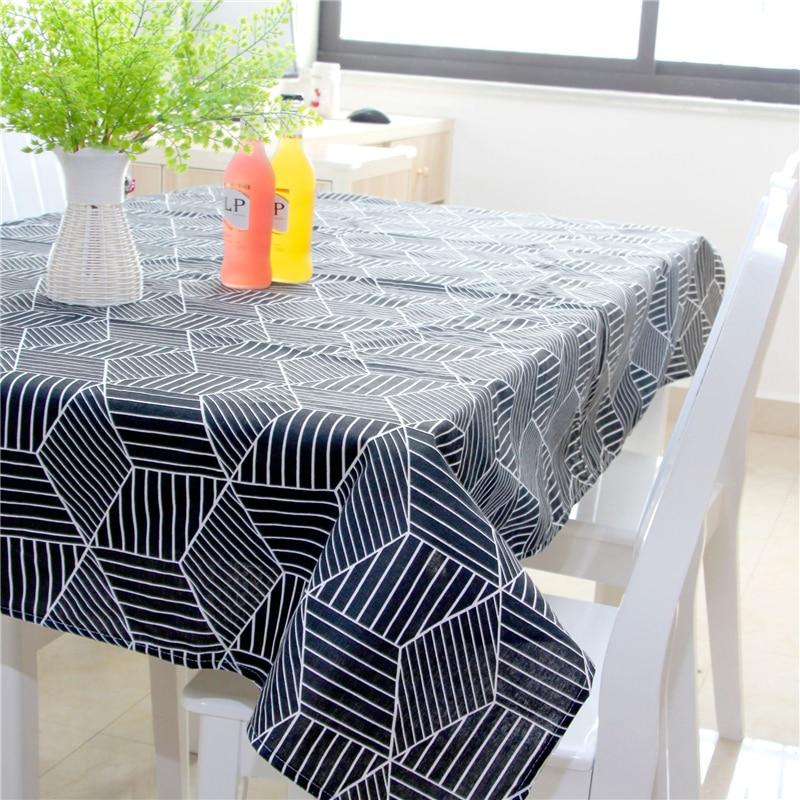 Hule en la mesa de la cocina, de lino Rectangular mantel de mesa de ...
