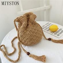 New Straw Bag 2019 Fashion Handmade Knitted Women Shoulder Summer Travel Beach Bohemia Handbags Bags Designer