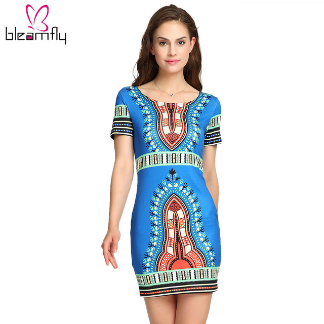 62359e4c4dc Drop Shipping Wholesale African Dresses For Women Plus Size Dashiki Clothing  Traditional Bodycon Sexy Female Print Clothes