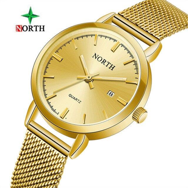 95f030c902b0 Северная Для женщин часы Элитный бренд золото женские ...