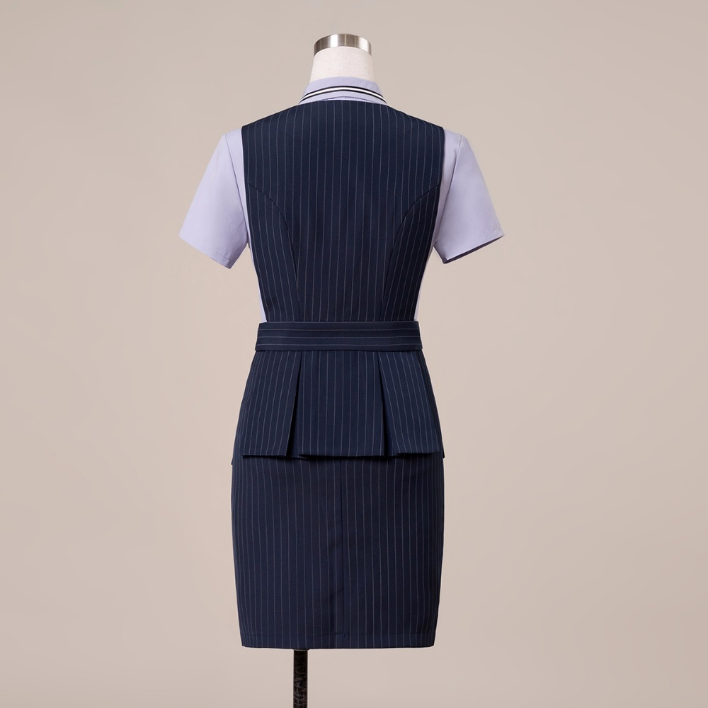 4b1fb83bcfa 2018 Office Lady Work Wear 2 Piece Set Formal Pant Suit Size S 4XL  Waistcoat Belt Black Vest Women Sleeveless Jacket Blazer pant-in Pant Suits  from Women s ...
