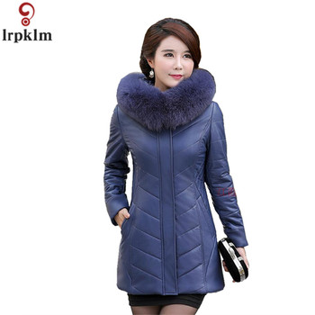 Women Winter Long Jackets Cotton Padded Thick Coat Hooded Fur Collar Jackets Women Plus Size 8XL Leather Jacket And Coat CH736