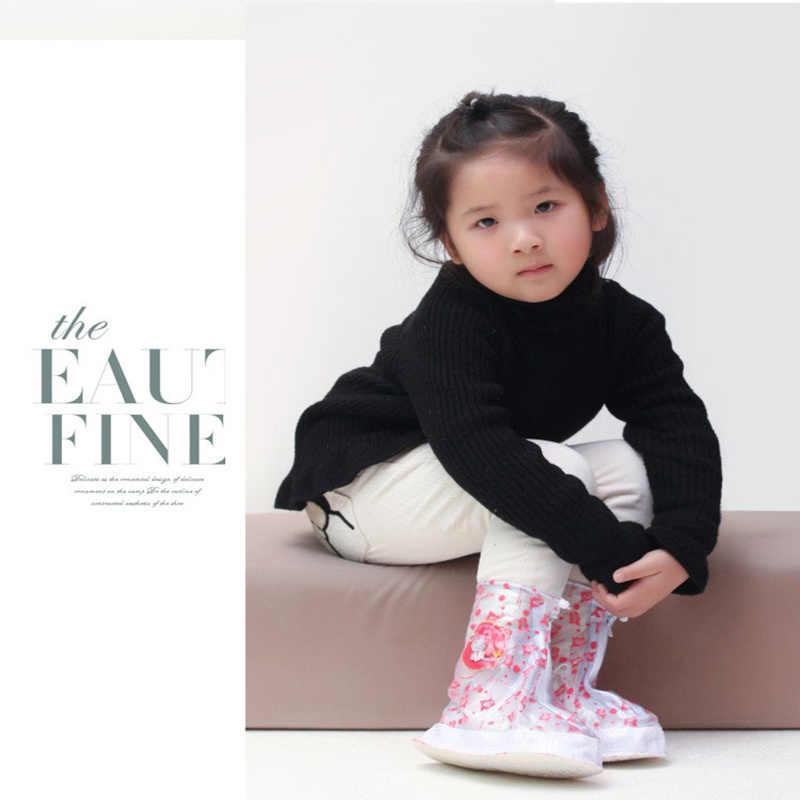 قابلة لإعادة الاستخدام الفتيات الفتيان أغطية لحذاء المطر لطيف الكرتون مقاوم للماء أحذية واقية تتمتع اللعب في الهواء الطلق غطاء الحذاء