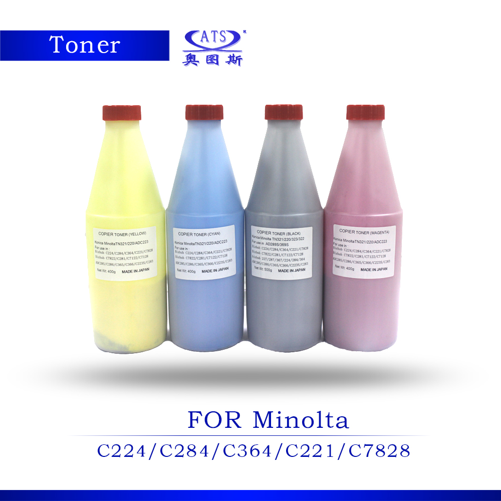 ФОТО 1PCS 400G Toner Poudre Photocopy machine Toner Powder For Konica Minolta Toner C224 284 364 221 7828 Copier Parts C 224