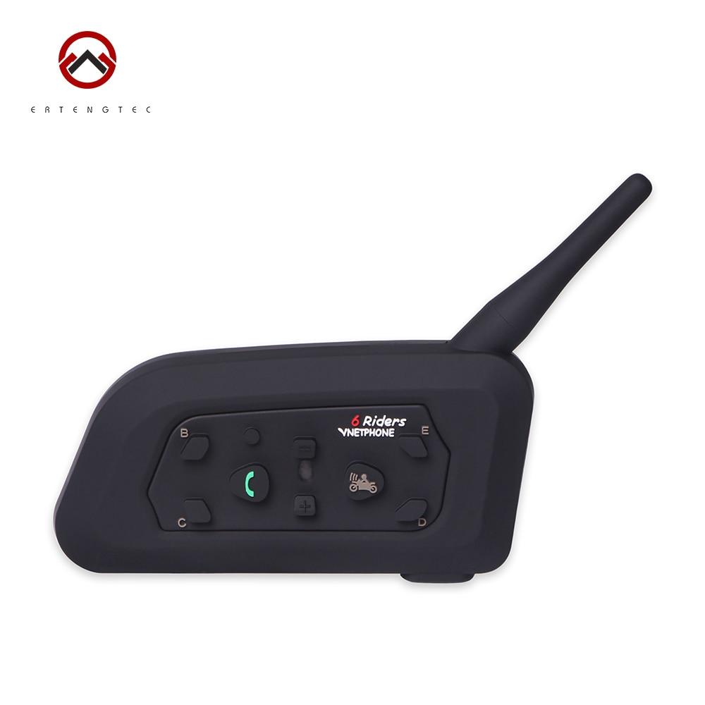 Football Referee Bluetooth Intercom V6C Interphone Headset Earpiece BT Walkie-Talkie 1200m Waterproof 6 Users Full-duplex