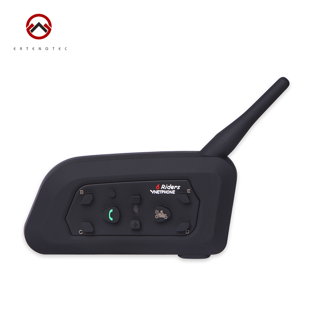 Football Referee Bluetooth Intercom V6C Interphone Headset Earpiece BT Walkie-Talkie 1200m Waterproof 6 Users Full-duplex v6c direct factory full duplex two user real time communication for basketball football match referee interphone 2pcs package
