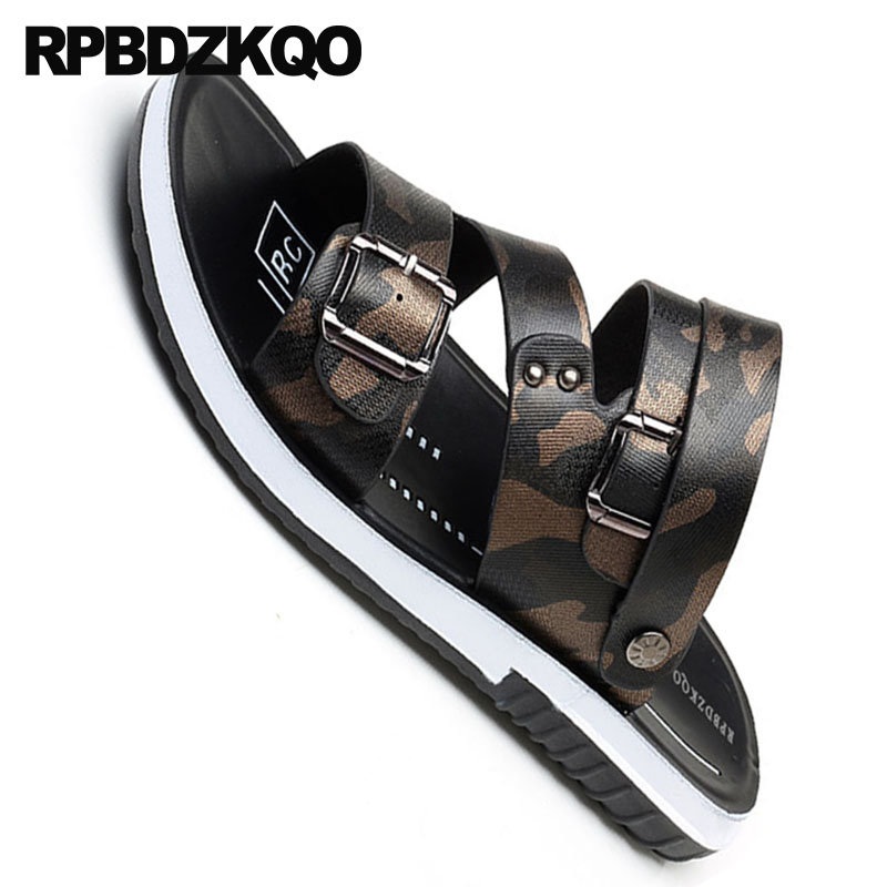 Mens Leather Belt Buckle Gladiator Roman Strap Casual Sandals Shoes Casual Sport